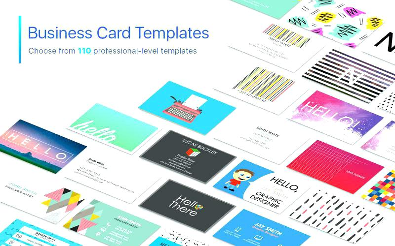 Business Card Template For Pages