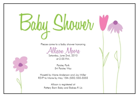 baby shower invitations templates free printable business card