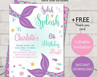 Birthday Invitation Template Printable Business Card Website