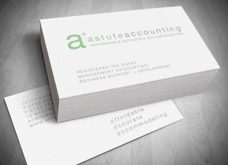 business card holder things remembered astutueaccounting logodesign goldcoast (2)