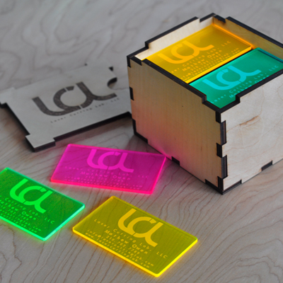 business card printing same day neon acrylic procuct cover