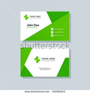 by httpsthumb1shutterstockcomdisplay_pic_with_logo3800705619591913stock vector modern green business card template in flat design abstract - Business Card Layout Ideas