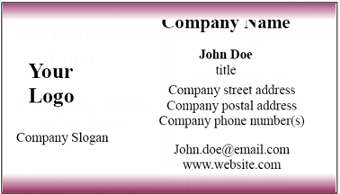 microsoft word template for business cards