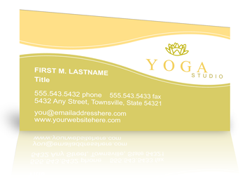 Business Cards Yoga Business Card Website Printable Templates