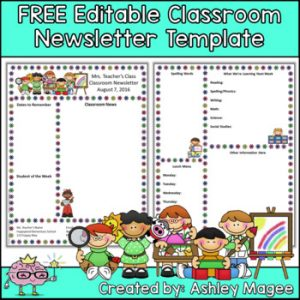 classroom newsletter templates free printable business card