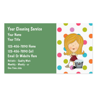 Cleaning business cards business card website printable templates reheart Image collections
