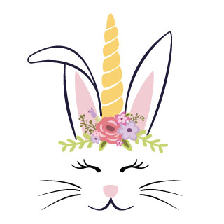 Easter Bunny Templates Printable - Business Card - Website