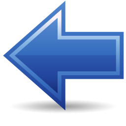 free business cards app blue back arrow icon 39504