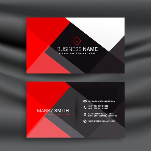 free business cards download red and black professional business card vector