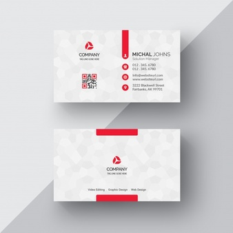 free business cards white business card with red details 1435 29