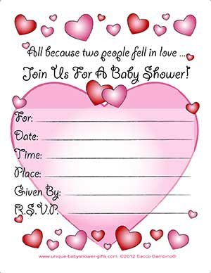 Another Picture of free printable baby shower invites templates: