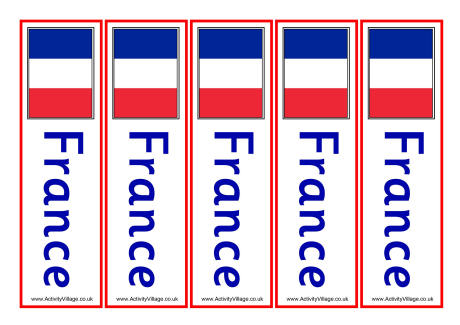 free printable bookmark template france bookmarks 460 0