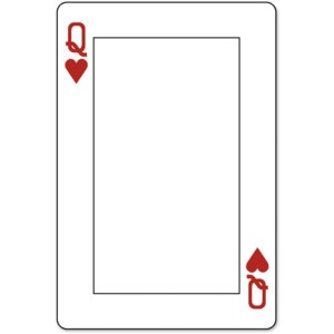 free printable bookmark templates playing card template achievable portrait queen