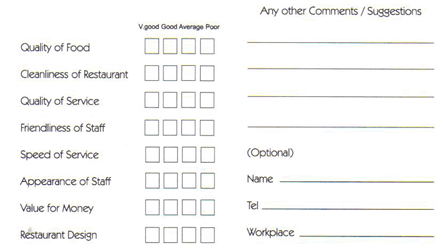 free printable bookmark templates restaurant comment card template 44
