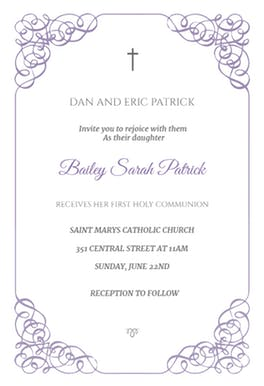free printable confirmation invitations template business card