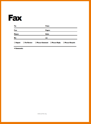 free printable fax cover sheet template business card website