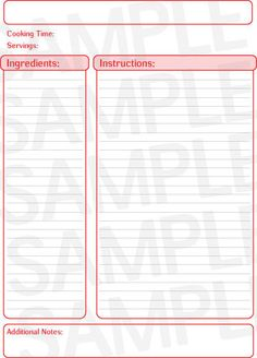 free printable full page recipe templates blank recipe page template 262033