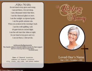 free printable funeral prayer card template business card