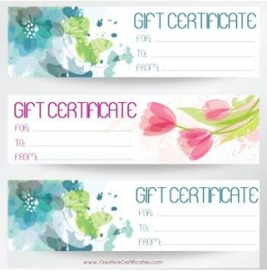 free printable gift certificate template business card website