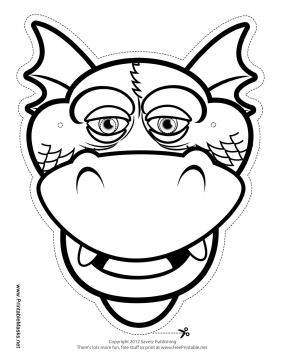 free printable masquerade mask templates dragon silly outline mask