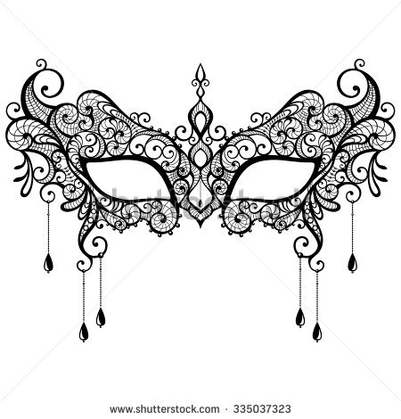 free printable masquerade mask templates stock vector beautiful black lace masquerade mask isolated on white background vector illustration 335037323