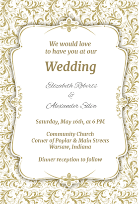 Free Printable Online Wedding Invitations Templates Business Card