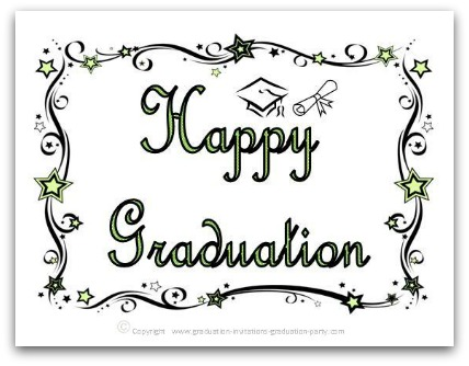 Satisfactory image with free printable graduation card