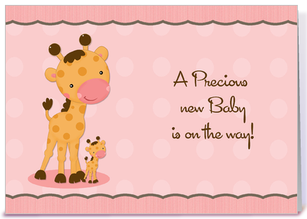 Peaceful image within free printable baby shower greeting cards