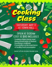 invitation printing cooking class poster template 924c839eacd52fbc6d5ddf745c0ddae9