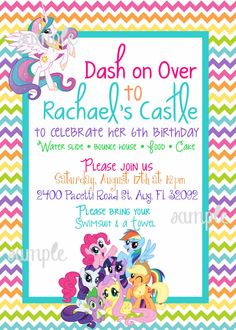 By Easytygermke Wp Content Uploads 2017 11 My Little Pony Party Invitations For The Design Of Your Inspiration Invitation