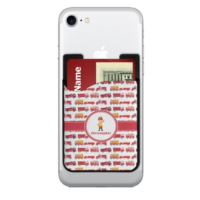 personalized business card case firetrucks cell phone credit card holder w phone 400×400