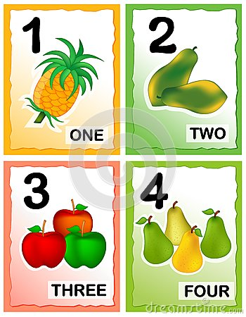 photography business cards numbers printable kids number learning cards eye catching colorful graphics fruits 36374887