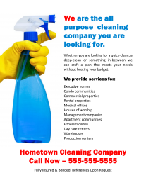 print out business cards general purpose cleaning flyer e1381698715704
