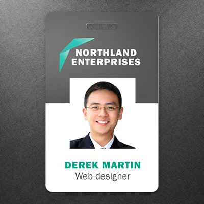 print out business cards id badge printing