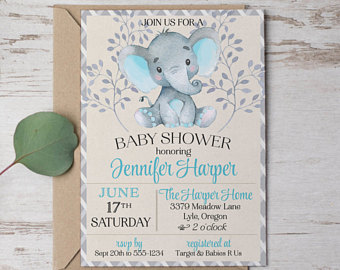 Printable Baby Shower Invitations Templates Business Card