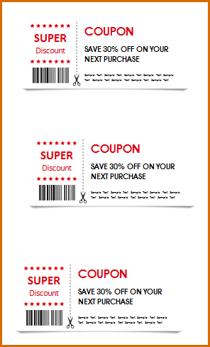 Blank Love Coupon Template