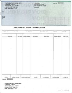 Printable Pay Stub Template Free Business Card Website