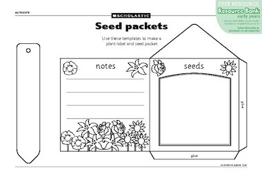Another Picture Of Printable Seed Packet Template