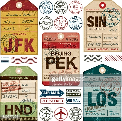 printable tags template 500877298 old fashioned airport luggage tags icon set gettyimages