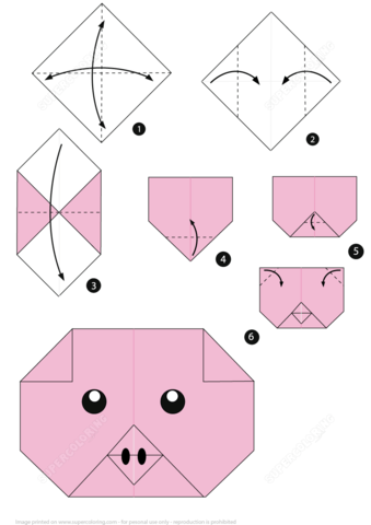 printable tags template how to make origami pig face paper craft