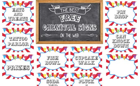 printable templates for invitations free carnival sign printables example sm