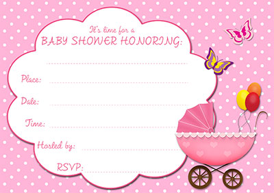 Revered image pertaining to printable baby shower invitations girl