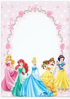 Disney Princess Invitations Free Templates For Birthday Printable Business Card