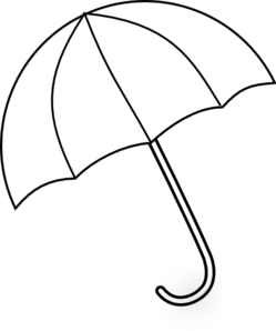 Umbrella Template Printable