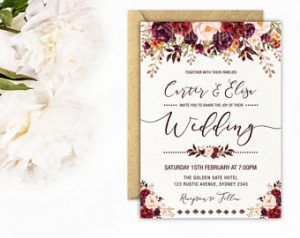 Wedding Invitations Templates Printable Business Card Website